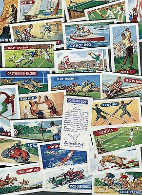"Lambert Tea 1964 Set Of 25 ""sports & Games"" Golf Boxing Trade Cards"