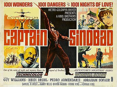 "Captain Sinbad 16"" x 12"" Reproduction Movie Poster Photograph"