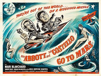 "Abbot and Costello go to Mars 16"" x 12"" Reproduction Movie Poster Photograph"