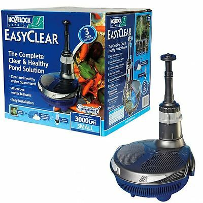 Hozelock Easyclear 3000 All In 1 Fish Pond Filter Pump UV & Fountain