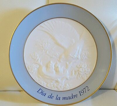 Lladro Mothers Day Plate Collector Collectible Vintage 1972