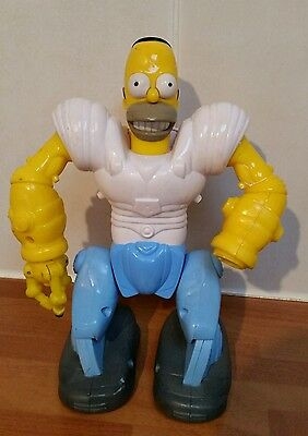 "THE SIMPSONS: HOMER SIMPSON ""Homosapien Robo-Sapien"" 8"" Action Figure, 2007"
