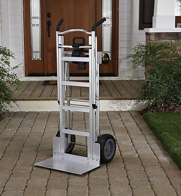 NEW Cosco 3-in-1 Aluminum Hand Truck Foldable Dolly Cart 1000 lb Capacity