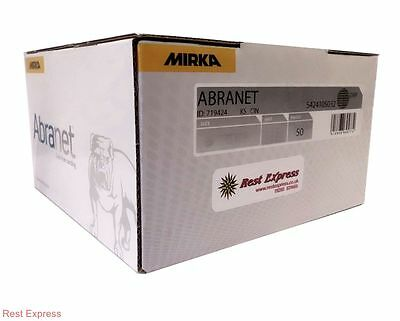 "Mirka Abranet Sanding Discs - 150mm (6"") - Box 50 - *ALL GRITS AVAILABLE*"