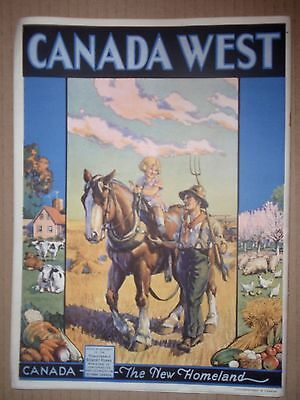 Vintage booklet Canada West for new settlers 1928