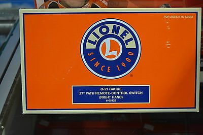 """Lionel 6-65122 O27 Gauge 27"""" Path Right Hand Remote Control Switch - NEW"""