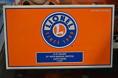 """Lionel 6-65021 O27 Gauge 27"""" Path Left Hand Manual Switch - NEW"""
