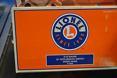 """Lionel 6-65022 O27 Gauge 27"""" Path Right Hand Manual Switch - NEW"""
