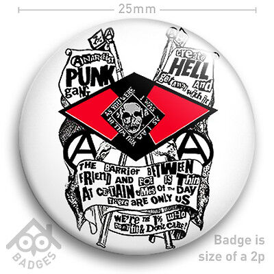 """The Sex Pistols SEDITIONARIES Vivienne Westwood PUNK HELL - NEW 25mm 1"""" Badge"""