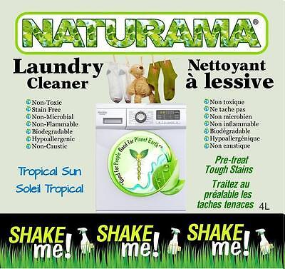 Naturama Laundry Cleaner Scented - Tropical Sun 4x4 Litre Jugs