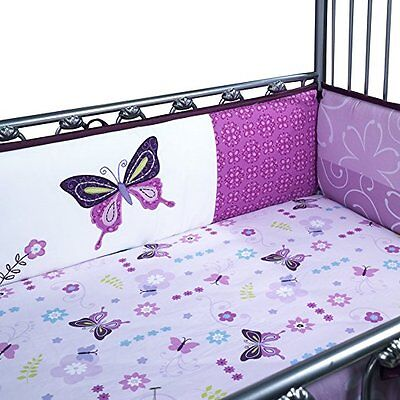 Lambs & Ivy Crib Bumper, Butterfly Lane, 4 Count