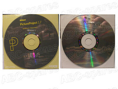 """Software NIKON PICTURE PROJECT 1,7 Completo di """"Reference Manual"""" (2 CD)"""