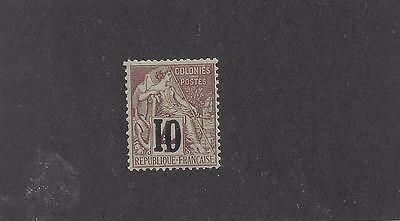 "Senegal #12   Mh  ""french Colonies (Commerce)   With Black Overprint"""