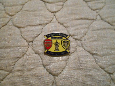 Arsenal V Leeds Utd Fa Cup 3Rd Round Blue/yellow Match Badge 9/1/2012