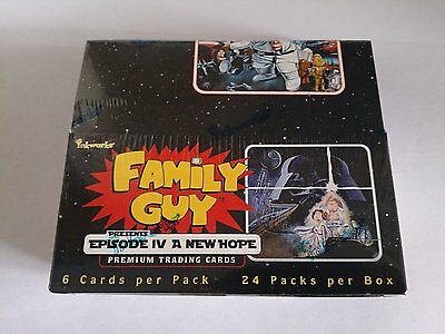 Family Guy Star Wars Factory Sealed Trading Card Hobby Box 24 Packs NEW