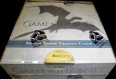 NEW Game of Thrones Season 3 Trading Card SEALED BOX - Autograph Cards