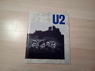 U2 The Unforgetable Fire Programme. Fantastic Condition