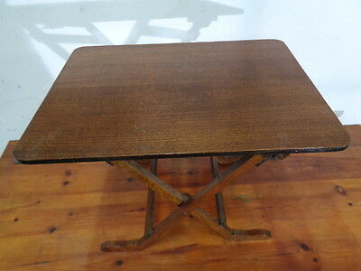 antique oak folding table space saving table