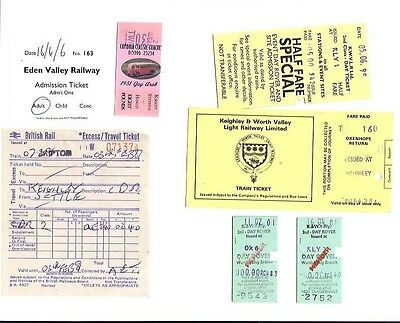 Keighley Worth Valley Railway 7 tickets Eden Valley Cumbria Classic Coaches