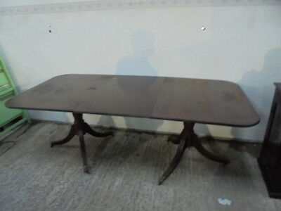 regency style twin pedestal  dining table extending