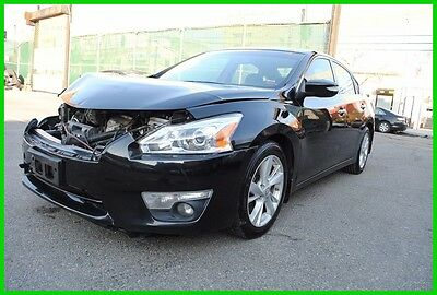2013 Nissan Altima 2.5 SL Navigation Leather Blind Spot Spoiler Repairable Rebuildable Salvage Wrecked Runs Drives EZ Project Needs Fix Save Big