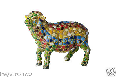 BEAUTIFUL SHEEP COLLECTIBLES FIGURINES Colorful Mosaic  HandMade Gaudi style