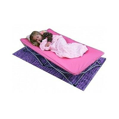 Regalo My Cot Portable Travel Bed Cots For Kids Daycare Girls Pink Toddler Camp
