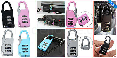 4 Combination Number Padlock Luggage Case Bag Security Travel Suitcase Pad Lock