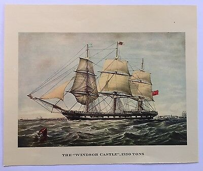 Set of 5 Vintage Maritime Chromolithographs. 5 of a set of 10 being listed.