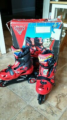 Boy's Disney Car's Roller Blades Size 9-12 Adjustable.