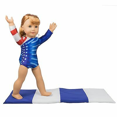 Gymnastics Outfit and Mat Set for American Girl Dolls: 2 Pcs Doll Clothes (Pa...