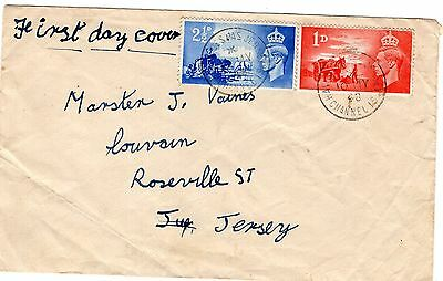 Jersey,  1948   Fdc.  Havres Des Pas Fdc