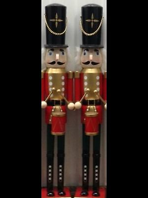 Large 2Ft Nutcracker Soldier/king Drummer, Gold Red Tunic, Handpainted, Quality.