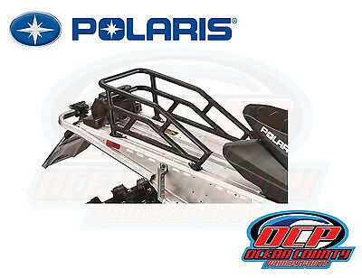 New Pure Polaris Snowmobile Voyageur 550 600 Oem Rear Black Cargo Rack 2881940