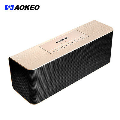 Aokeo Ultra Portable Wireless Bluetooth Speaker:Louder Volume, More Bass(Gold)