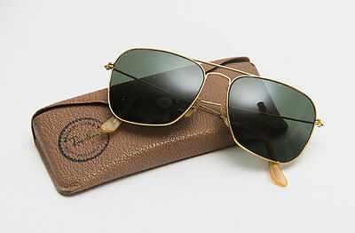 vintage ray ban sunglasses  Vintage Ray Ban Aviator Sunglasses Gold Rim With Vintage Case Usa ...