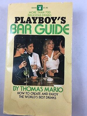 Vintage Playboys Bar Guide Paperback Book 700 Drinks 1971