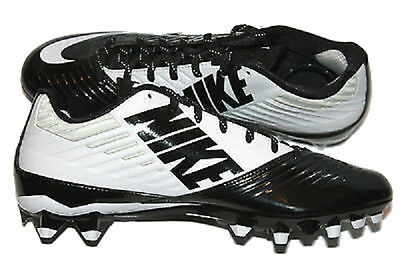 NIKE VAPOR SPEED 2 TD Black/White FOOTBALL CLEATS 643152-110 - 14 /