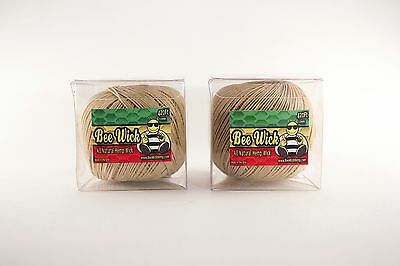 Hemp Wick-840 FT of Bee Wick! All natural+Handmade in America! Two 420ft spools!