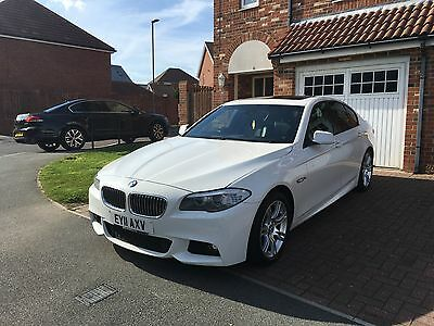 BMW 520D M SPORT AUTO WHITE  may px