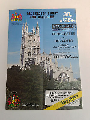 Gloucester V Coventry, 12Th September, 1987