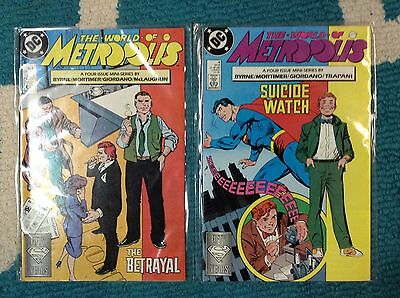 DC Comics The World of Metropolis #1 and #4