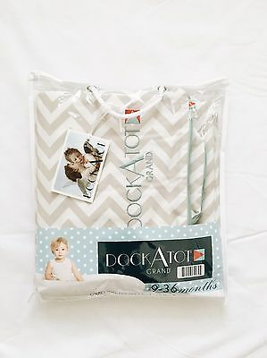 DockaTot Grand Extra Cover - Gray And White chevron 9-36 Months