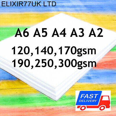 A2 A3 A4 A5 A6 WHITE CARD STOCK BLANK SHEETS PAPER CRAFT DECOUPAGE 250gsm 300gsm