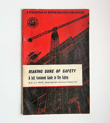 Vintage Federation of Master Builders Safety pamphlet c1965. Woodhall-Duckham