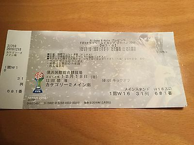 Mint used ticket stub final Club World Cup 2016 Real Madrid v Kashima Antlers