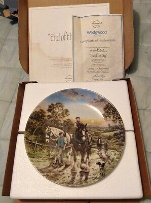 1990 20cm Wedgwood Life On The Farm End Of The Day Collectors Plate