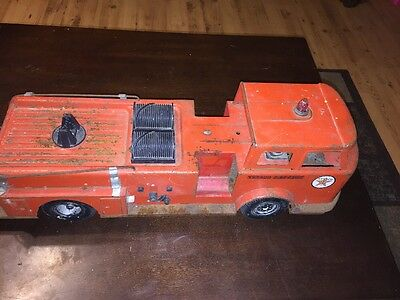 Vintage 1960s Buddy L Texaco Fire Chief Toy Truck for Parts Or Repair L@@K Lot A