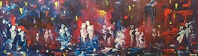 """""""Embrace"""", large romantic, abstract, spiritual original oil painting, Phil Broad"""