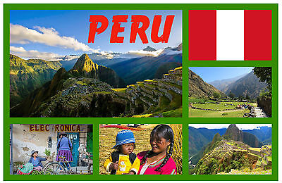 Peru - Souvenir Novelty Fridge Magnet - Sights / Towns - Brand New / Gifts